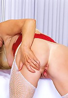 Mature blonde Nurse Athena