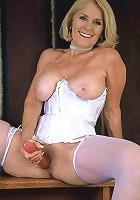 Busty grandma Georgette in lingerie