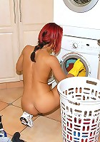 Hot fucking ass cleaning lady milf gets drilled hard in these outdoor glove fucking cumfaced pics