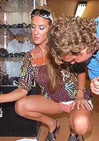 perfect tight pink undies babe gets her hot box fucked hard after shopping in a sexy mini dress