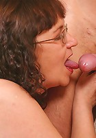 Horny mature chicks slammed by two horny fellows