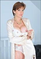 Silk lingerie mature