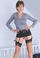 Up skirt mature babe