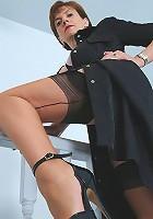 Slim nylons mature