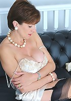Satin lingerie milf