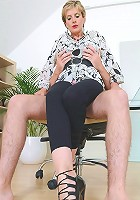 Clothed cock tease