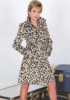 Coat and nylons milf