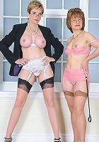 Dominant in lingerie