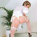 White nylon panties