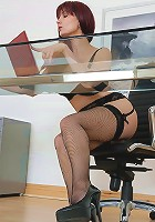 Lingerie office boss