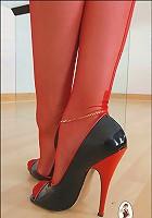 Long slim legs milf