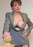 Huge tits nylons mature