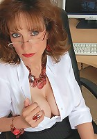 Pantyhose office milf