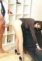 Cum on pantyhose ass